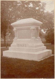 Governor John Evans Memorial at Riverside. Photo courtesy of Denver Public Library, Western History Dept.