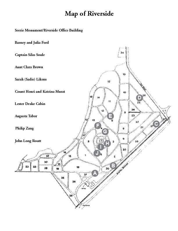 """Highlights of Riverside\"" Cemetery Map"